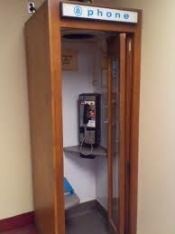 Before cell phones...old phone booths!