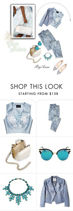 """You shine"" by anne-977 ❤ liked on Polyvore featuring Louis Vuitton, Cynthia Rowley, Wrap, Valentino, Chanel, Acne Studios and Jimmy Choo"
