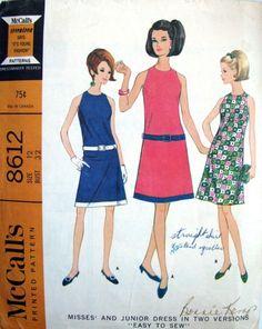 60s Vintage Dress Pattern McCall's 8612 Bust by finickypatternshop