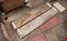 Using scaffold boards to make a container
