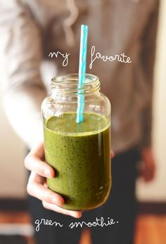 My Favorite Green Smoothie Recipe #minimalistbaker