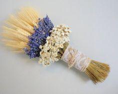 Lavender Wheat Oats Baby's Breath Dried Flower Bouquet – Johanna Meyer Lavender Decor, Lavender Crafts, Lavender Bouquet, Lavender Bags, Dried Flower Bouquet, Dried Flowers, Flowers Uk, Flower Bouquets, Bridal Bouquets