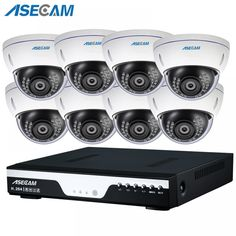 New Super Security System kit HD Home CCTV indoor White Metal Dome Surveillance Camera High resolution Home Security Tips, Wireless Home Security Systems, Security Camera System, Security Surveillance, Security Alarm, Surveillance System, Security Products, House Security, Security Service