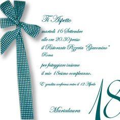 Invito 18 Anni 18 Pinterest Party 18th Und Cards