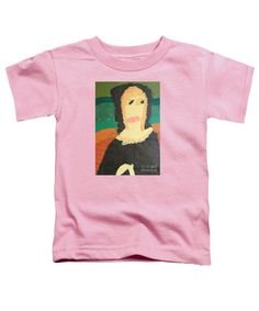Patrick Francis Pink Designer Toddler T-Shirt featuring the painting Mona Lisa 2014 - After Leonardo Da Vinci by Patrick Francis