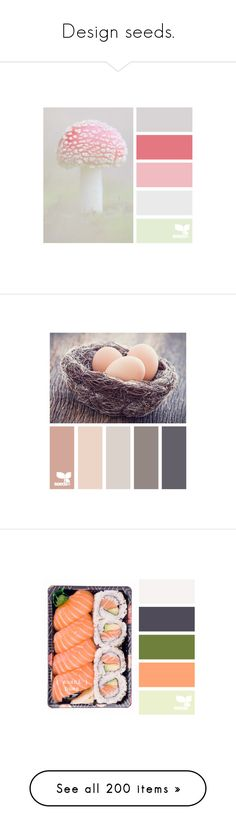 """""""Design seeds."""" by gema-z ❤ liked on Polyvore featuring backgrounds, design seeds, colors, color palettes, photos, palettes, filler, food, fillers and food and drink"""