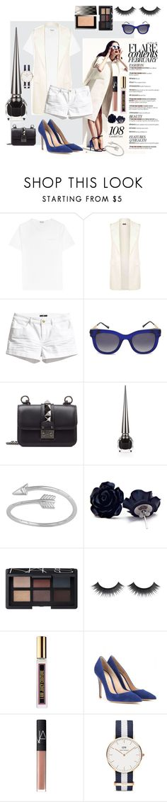 """""""Untitled #5"""" by elok-fujiyama ❤ liked on Polyvore featuring Reiss, H&M, Thierry Lasry, Valentino, Christian Louboutin, NARS Cosmetics, Juicy Couture, Gianvito Rossi, Daniel Wellington and Burberry"""