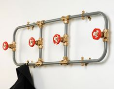 unusual coat racks hooks ideas plumbing pipes