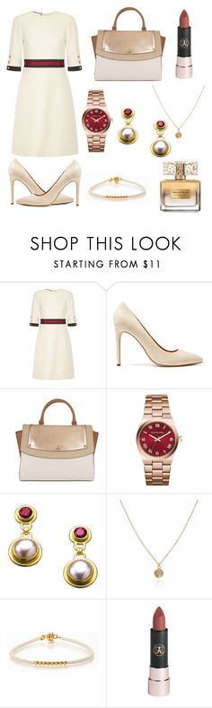 """""""Untitled #178"""" by meenjasmin ❤ liked on Polyvore featuring Gucci, Halston Heritage, GUESS, Michael Kors, Minnie Grace and Givenchy"""