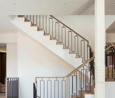 Custom Stair Railing - Metal and Wood combo