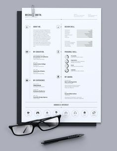 Great Simple #Resume #Design by Luthfi, via Behance. For more…