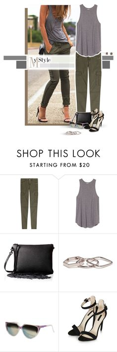 """MyStyle."" by caroline-brazeau ❤ liked on Polyvore featuring 7 For All Mankind, Rebecca Minkoff, Bing Bang and Topshop"