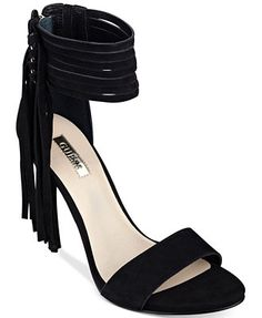 GUESS Women's Carlene Fringe Ankle Strap Dress Sandals