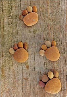 Stone paws