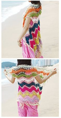hairpin lace beach vest cardi inspiration