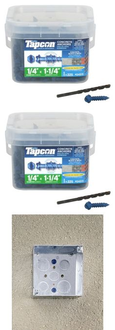 Anchors 83852: Concrete Screws Self-Tapping Point Hex Head And Drill Bit Blue Steel 225-Count -> BUY IT NOW ONLY: $62.67 on eBay!