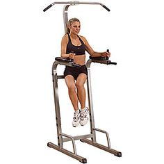@Overstock.com - Best Fitness Vertical Knee Raise/ Chin Dip Station - Best Fitness offers multiple workout options in one piece of equipmentSmall footprint home gym station is ideal for cramped quartersExercise machine puts you in complete control of sculpting your abs, chest, back and arms  http://www.overstock.com/Sports-Toys/Best-Fitness-Vertical-Knee-Raise-Chin-Dip-Station/3941826/product.html?CID=214117 $164.98