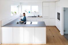 Kitchen Stories, Grey Kitchens, Home Room Design, Küchen Design, House Rooms, Kitchen Interior, House Plans, Sweet Home, New Homes