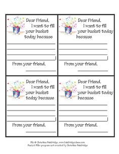 See 4 Best Images of Printable Bucket Filler Slips. Free Printable Bucket Filler Slips Bucket Filler Slip Have You Filled a Bucket Today Printables Bucket Filler Printable Worksheets Bucket Filling Classroom, Bucket Filling Activities, Elementary School Counseling, School Counselor, Elementary Schools, Classroom Behavior, Future Classroom, Classroom Decor, Social Emotional Learning