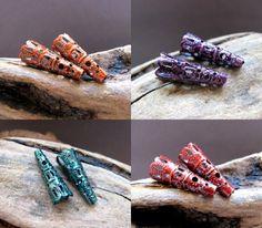 Assorted Filigree Trumpets bead caps 22mm. Cone Pattern bead caps