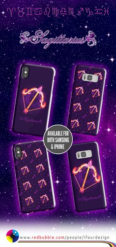 Sagittarius Zodiac Lightburst - Tiled   Smartphone cases by @ifourdezign — Available for both Samsung Galaxy and iPhone, including some early and latest models #Sagittarius #Astrology #Zodiac #Starsigns #Smartphone #iPhone #Samsung #Redbubble