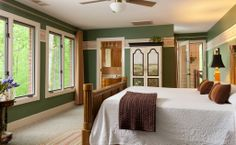 Our Deer Room has second floor access to bird watch. For more information visit www.irisinn.com/... #BnB #wedding #honeymoon #inn