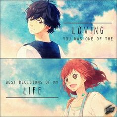 Anime Couples It will always stay in my heart forever Anime : Ao Haru Ride - Anime Couples Manga, Cute Anime Couples, Anime Guys, Ao Haru Ride Kou, Blue Springs Ride, Like A Storm, Sad Anime Quotes, Riding Quotes, Gothic Anime