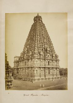 The Rajarajeswara temple at Taliparamba in the Kannur district of Kerala, South India, circa 1870, photo by Samuel Bourne. (This is a rear view.)