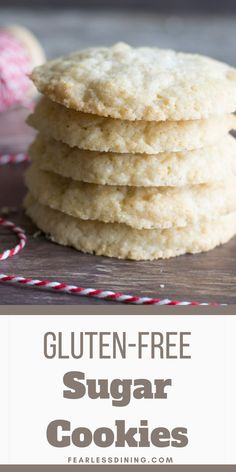 These drop style gluten-free sugar cookies make a delicious treat. They are crisp on the outside and slightly chewy soft in the centers. I include a dairy-free option as well. If you love making homemade cookies from scratch, you will love this easy recipe. fearlessdining Best Gluten Free Cookie Recipe, Gluten Free Sugar Cookies, Gluten Free Recipes, Cookies From Scratch, Kinds Of Cookies, Dairy Free Options, Homemade Cookies, Macaroons, Yummy Treats