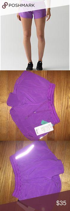 Lulu Lemon Hottie Hot Shorts 4'' Light purple athletic running shorts lululemon athletica Shorts