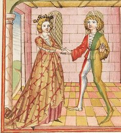 Elisabeth <Nassau-Saarbrücken, Gräfin, 1393-1456> Herpin — Stuttgart (?) - Werkstatt Ludwig Henfflin, um 1470 Cod. Pal. germ. 152 Folio 63v