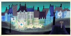 1950 Mary Blair Concept Painting for Cinderella