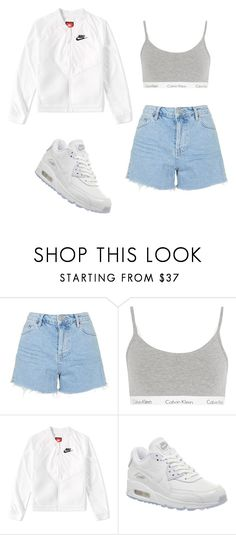 """""""Untitled #90"""" by emmalee2002 ❤ liked on Polyvore featuring Topshop, Calvin Klein Underwear and NIKE"""