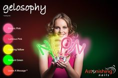 NEW! Gelosophy Neon Collection! Photographer: Henny Sep Make-up & Styling: Dunia Erich Model: Iris Karácsony Nails: Tracey Lee http://www.beautyfactorynails.com/en/gelosophy-neon/g7/p6463/