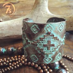 Dubois Cuff - patina copper southwest cuff from Savannah Sevens Western Chic