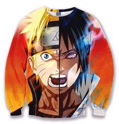 3D Sweatshirt - Naruto Sasuke Faces