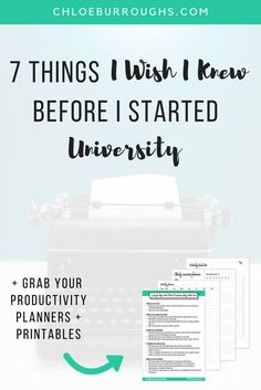 7 Things I Wish I Knew Before I Started University 3