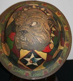 WW1 USMC DEVIL DOG PAINTED HELMET - STEEL AND KEVLAR HELMETS ...