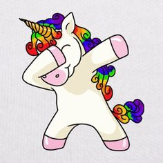 Unicorn Dabbing Einhorn T-Shirt - Teddy
