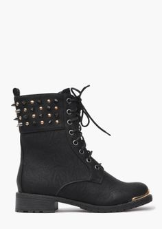 Combat Style Boots - Studded