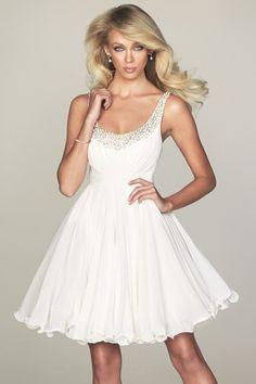 Beaded Scoop Neckline Dress With Straps  SPECIAL PRICE: $77.00