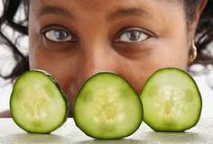Eyes taken care with live cucumber daily! Try this at home, you will be glad you did!