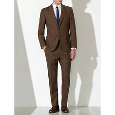 Buy JOHN LEWIS & Co. Tailored Bennett Donegal Suit Jacket, Brown Online at johnlewis.com