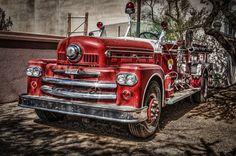 Retrô HDR Vermelho fire-engine, 1957 Carros