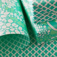 """Double-Sided Gift Wrapping Paper in """"Garden Path"""" Print, from the New York States of Mind Marketplace. Printed on letterpress in Syracuse, NY by Smock."""