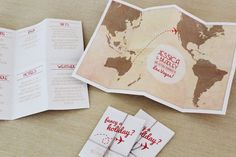Travel Map DIY printable wedding invitation by StationeryPolkadot, $59.00