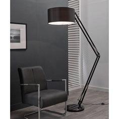 Grote vloerlamp Santa Tarano zwart