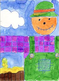 Art Projects for Kids: Scarecrow Painting