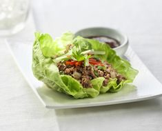 Korean Beef Lettuce Cups Recipe by Canadian Beef Sauce Hoisin, Sauce Chili, Korean Beef, Korean Food, Lettuce Cups, Beef Sirloin, Shredded Beef, Ground Beef Recipes, Whole 30 Recipes