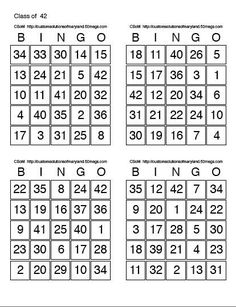 Image result for printable bingo cards | Y | Pinterest | Printable ...